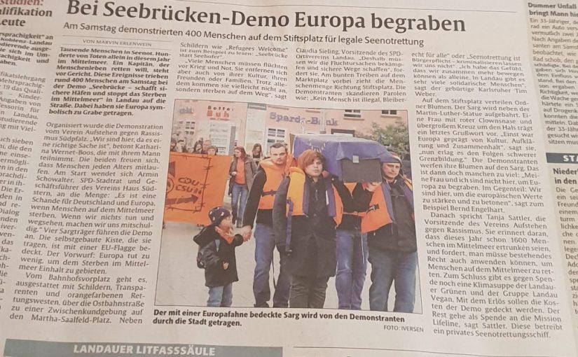Pressemitteilung AgR Südpfalz e.V.