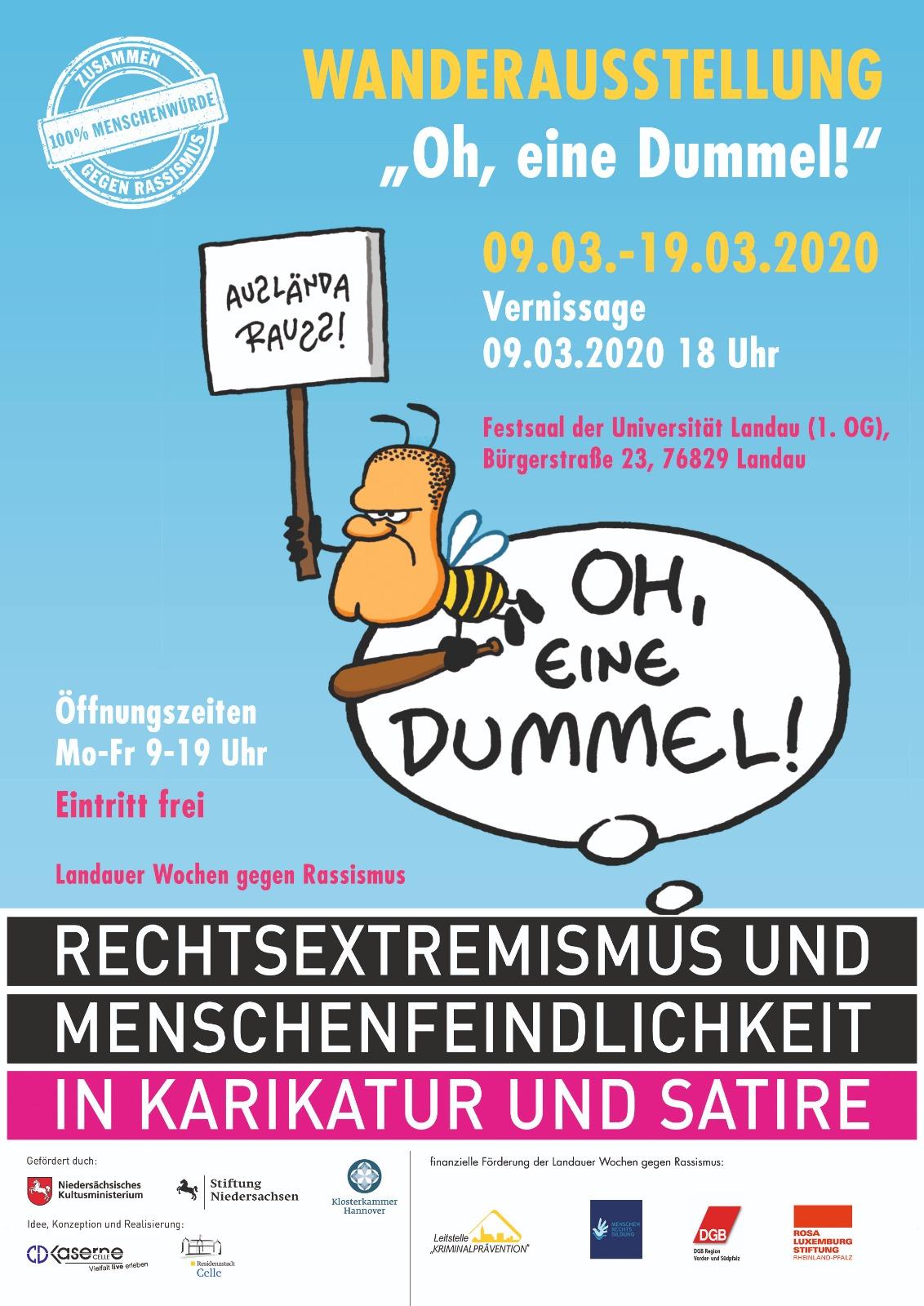 """""""Oh, eine Dummel! - Rechtsextremismus und Menschenfeindlichkeit in Karikatur und Satire"""""""