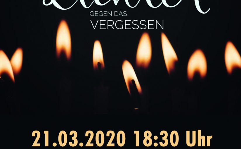 Gedenkveranstaltung: Bewegte Lichter gegen das Vergessen