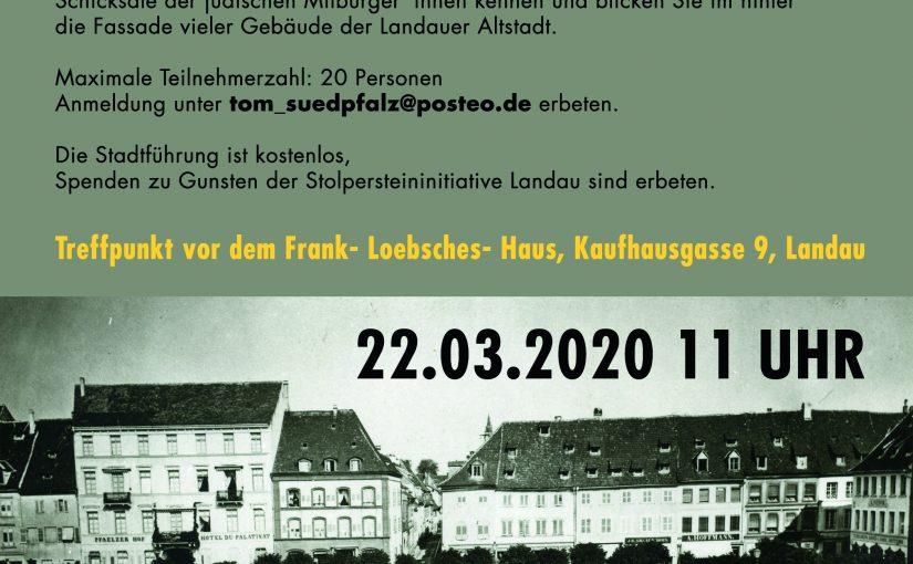 """Stadtführung: """"Juden in Landau"""""""