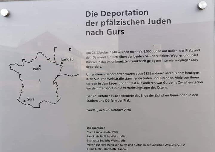 Ankündigung und Aufruf anlässlich des Gedenkens zum 80. Jahrestag der Deportation der jüdischen Mitbürger*innen nach Gurs!