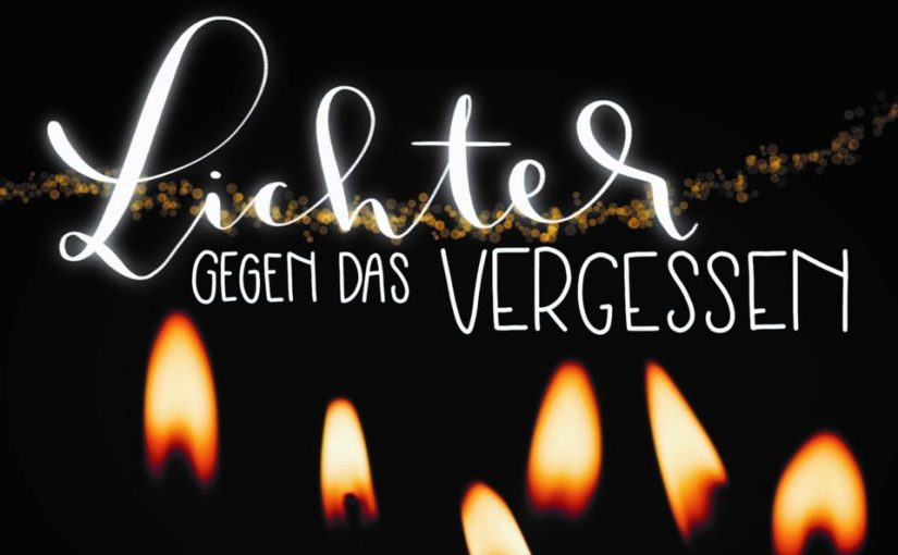 Lichtermeer zum Gedenken anlässlich des 82. Jahrestages der Reichspogromnacht
