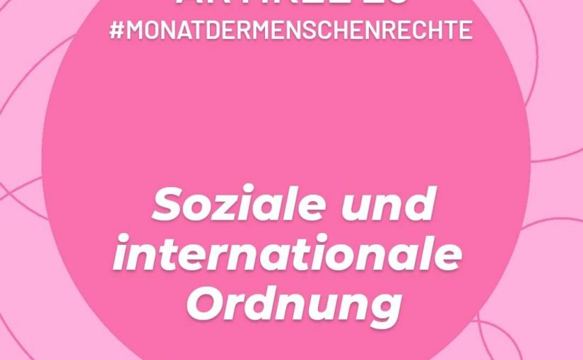 Artikel 28: Soziale und internationale Ordnung